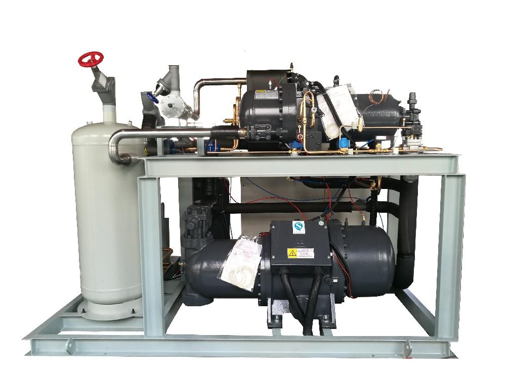 复盛双级配搭制冷机组-1吨速冻隧道冷源